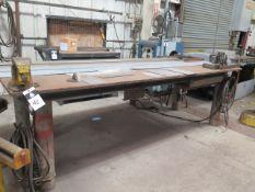 Steel Welding Table w/ Bench Vise (SOLD AS-IS - NO WARRANTY)