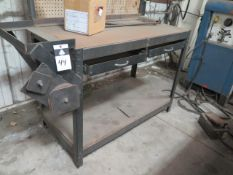 Work Bench and Material Stands (SOLD AS-IS - NO WARRANTY)