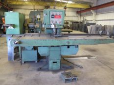 """Whitney 635-A Manual Duplicator Punch Press s/n 824-156-32064 w/ Fence System, 9/16"""" Thru 1/2"""" to 5"""""""