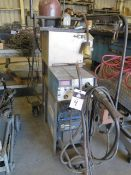 Miller XMT 304 DC Inverter Arc Welder w/ Airco Mighty M Wire Feed, Tank, Cart (SOLD AS-IS - NO