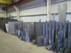 Large Quantity of Sheet and Plate Stock w/ Racks (SOLD AS-IS - NO WARRANTY)