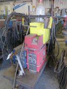 PowCon 300SM Cyclomatic Arc Welding Power Source w/ PowCon Power Drive I/E Wire Feeder, SOLD AS IS