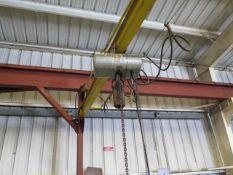 CM loadstar 1 Ton Electric Hoist w/ Trolley (SOLD AS-IS - NO WARRANTY)