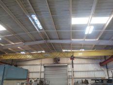 Crane Services 3-Ton Bridge Crane w/ CM Loadstar 3-Ton Electric Hoist, Power Trolleys SOLD AS IS