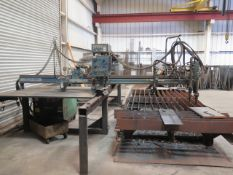 K.N. Aronson IK 1500G Plasma / Torch Table w/ D-2 Hybrid Controls, Tracer Controls, SOLD AS IS