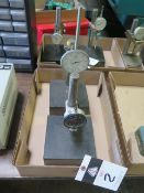 """6"""" x 6"""" Granite Indicator Bases w/ Dial Drip Indicators (2) (SOLD AS-IS - NO WARRANTY)"""