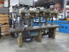 """Powermatic 6-Head Gang Drill Press w/ mdl. 1200 Variable Speed Heads, 24"""" x 122"""" Table (SOLD AS-IS -"""