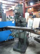 """Warner HY-1 ½ VS Vertical Mill s/n 83366 w/ 60-4200 Dial RPM, R8 Spindle, 9"""" x 49"""" Table, SOLD AS IS"""