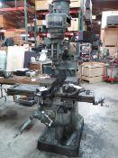 """Webb Vertical Mill s/n 7131551 w/ 2Hp Motor, 80-2760 RPM, 9"""" x 47"""" Table (SOLD AS-IS - NO WARRANTY)"""