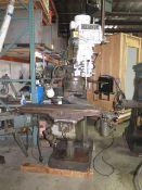 "Eisen Vertical Mill (w/ Bridgeport Body) 3Hp Motor, 60-4200 Dial Change RPM, R8 Spindle, 9"" x 42"""