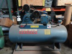 Falcon 5Hp Horizontal Air Compressor w/ 3-Stage Pump, 60 Gallon Tank (SOLD AS-IS - NO WARRANTY)