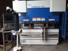 "2006 Trumpf ""TruBend 3066"" 66 Ton x 82"" CNC Hydraulic Press Brake s/n B0203A0079, SOLD AS IS"