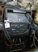 Miller Syncrowave 250DX Arc Welding Power Source s/n LH220104L w/ Cooler Cart (SOLD AS-IS - NO