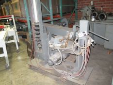 """Semi-Automatic Rotary Style Parts Finishing Machine w/ 24"""" Rotary Table, Pneumatic Feeds (SOLD AS-IS"""