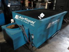 """2007 Airflow Systems mdl. DT3000V2-MC-BF1-7E10DD 40"""" x 65"""" Down Draft Table s/n 1026439, SOLD AS IS"""