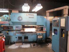 Amada PEGA-344 30 Ton 56-Station CNC Turret Punch s/n P3440378 w/ Amada-Fanuc Controls, SOLD AS IS