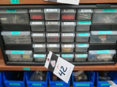 Carbide Inserts, Center Drills, Carbide Endmills and Taps w/ Drawered Cabinet (SOLD AS-IS - NO