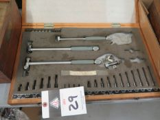 """Mitutoyo .7""""-4"""" Dial Bore Gage Set (SOLD AS-IS - NO WARRANTY)"""