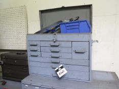 Tool Box w/ Reamers, Endmills and Files (SOLD AS-IS - NO WARRANTY)