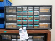 Carbide Inserts w/ Drawered Cabinet (SOLD AS-IS - NO WARRANTY)