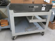 """Standridge 36"""" x 48"""" x 6 ½"""" Granite Surface Plate w/ Rol Stand (SOLD AS-IS - NO WARRANTY)"""