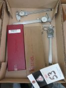 """Starrett 6"""" Digital Caliper and (4) Misc 6"""" Dial Calipers (SOLD AS-IS - NO WARRANTY)"""