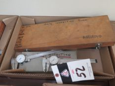 """Mitutoyo 6"""" and 12"""" Dial Calipers (5) (SOLD AS-IS - NO WARRANTY)"""
