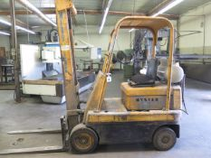 Hyster 3000 Lb Cap LPG Forklift w/ Monotrol Trans, 2-Stage Mast, Cushion Tires (SOLD AS-IS - NO
