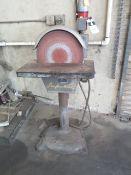 """Apex mdl. 16-D 16"""" Pedestal Disc Sander (SOLD AS-IS - NO WARRANTY)"""