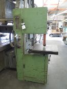 """Import 20"""" Vertical Band Saw w/ Blade Welder, 22"""" x 23 ½"""" Table (SOLD AS-IS - NO WARRANTY)"""
