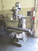"""Exacto Vertical Mill w/ Anilam Micro Wizard DRO, 2Hp Motor, 80-2720 RPM, 9"""" x 49"""", SOLD AS IS"""