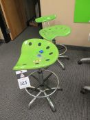 Tractor Seat Style Lab Stools (2-Green) (SOLD AS-IS - NO WARRANTY)