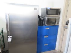 Refrigerator, Microwaves and File Cabinet (SOLD AS-IS - NO WARRANTY)