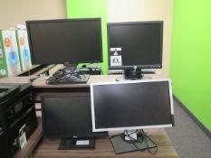 Computer Monitors (4) (SOLD AS-IS - NO WARRANTY)
