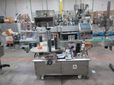Total Packs Corp mdl. LB-200A Automatic 2 Sides Bottle Labeler w/ Delta PLC Controls (SOLD AS-IS -