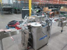 """Capmatic """"Label Star"""" System 1 ECO Automatic Labeler w/ Conveyor (SOLD AS-IS - NO WARRANTY)"""