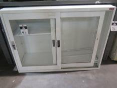 Lockable Glass Cabinet (SOLD AS-IS - NO WARRANTY)