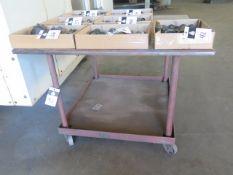 """46"""" x 46"""" Rolling Steel Table (SOLD AS-IS - NO WARRANTY)"""