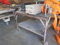"""48"""" x 55"""" Rolling Steel Table (SOLD AS-IS - NO WARRANTY)"""