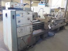 """Ponar TUR-63 25"""" x 128"""" Geared Head Lathe s/n 1310 w/ 28-1200 RPM, 3 ½"""" Thru Spindle, SOLD AS IS"""