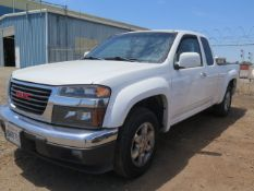 2010 GMC Canyon SLE Extended Cab Pickup Truck lisc# 8W88753 w/ 3.7L Vortec Gas Engine, Automatic