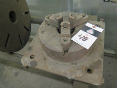 """10"""" 3-Jaw Chuck w/ Mill Mounting Plate (SOLD AS-IS - NO WARRANTY)"""