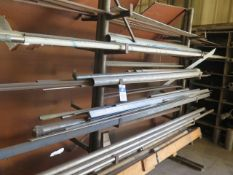 Stainless Steel, Aluminum, and Misc w/ Rack and Shelf (SOLD AS-IS - NO WARRANTY)