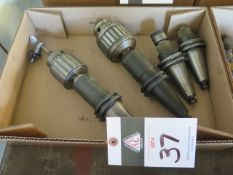 CAT-40 Taper Tapping Heads and Drill Chucks (4) (SOLD AS-IS - NO WARRANTY)