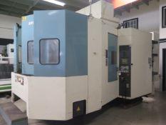 Nigata SPN66 2-Pallet 4-Axis CNC HMC s/n 46600095 w/ Fanuc 16i-M Controls, SOLD AS IS