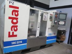2001 Fadal VMC2216 CNC VMC s/n 012001011980 w/ Fadal Multi Processor, Has a Bad Spindle, SOLD AS IS