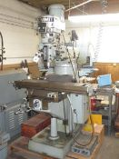Summit VS-244 Vertical Mill s/n 5285 w/ 2Hp Motor, 7.8-4800 RPM, R8 Spindle, Chrome, SOLD AS IS