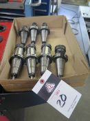 CAT-40 Taper Collet Chucks (7)(SOLD AS-IS - NO WARRANTY)