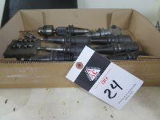CAT-30 Taper Tooling (10) w/ Flex Collets, SOLD AS IS