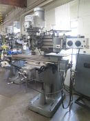 """Bridgeport Vertical Mill s/n 114038 w/ Bridgeport """"Line-A-Mill"""" Optical Line Tracing SOLD AS IS"""